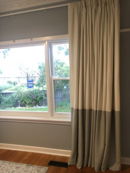 Pencil Pleat Curtains with Band