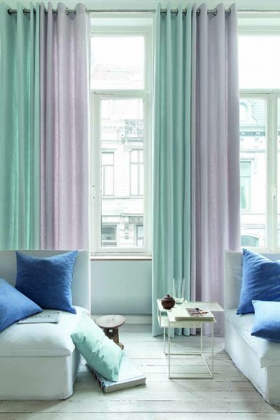 Hometown collection is a cotton blend plain two-tone dual-purpose range. This collection has many colourways to choose from which consists of hues of greys, magentas, pastels and neutral tones to suit any décor.